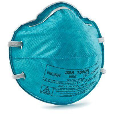 3M™ 1860S N95 醫用防菌口罩(綠) (20片/盒)