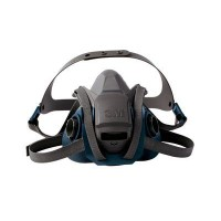 3M™  6500系列 耐用舒適型矽膠防毒面罩(藍灰) (6501QL)