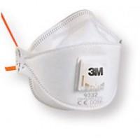 3M™ 9332 P3防菌口罩(白)(呼氣閥摺疊式)