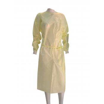 一次性不織布保護衣 PPE (黃色彈性束袖)  Standard AAMI Level 1( 10件/包 )